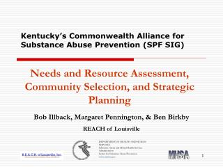 Kentucky�s Commonwealth Alliance for Substance Abuse Prevention (SPF SIG)
