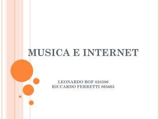 MUSICA E INTERNET LEONARDO BOF 828396 RICCARDO FERRETTI 805665