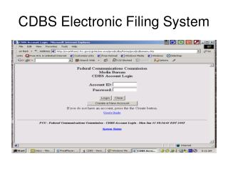 CDBS Electronic Filing System