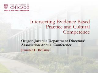 Intersecting Evidence Based Practice and Cultural Competence