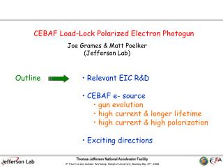 CEBAF Load-Lock Polarized Electron Photogun