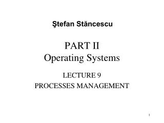 PART II Operating Systems