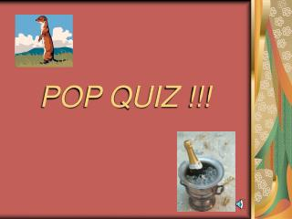 POP QUIZ !!!