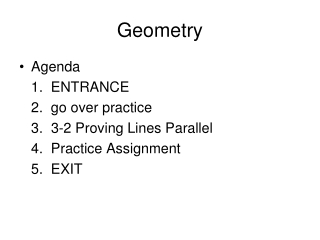 3.2 Proving Lines Parallel