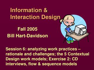 Information &  Interaction Design
