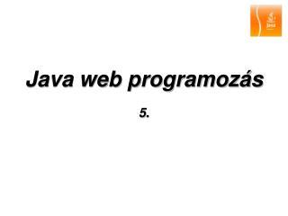 Java web programozás