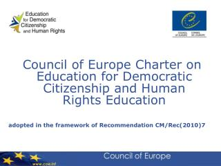 Council of Europe Charter on Education for Democratic Citizenship and Human Rights Education
