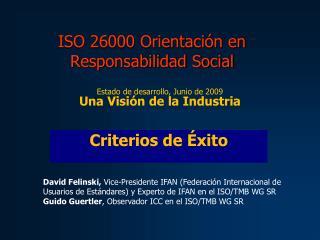 ISO 26000 Orientación en Responsabilidad Social