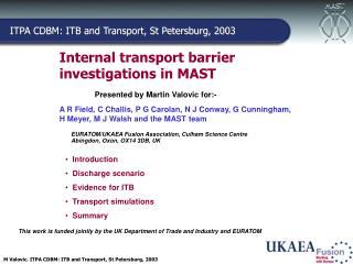 Internal transport barrier investigations in MAST