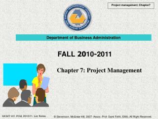 Chapter 7: Project Management