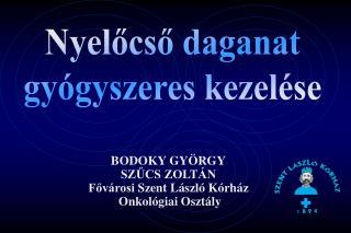 BODOKY GYÖRGY SZŰCS ZOLTÁN Fővárosi  Szent László Kórház  Onkológiai Osztály