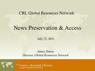 CRL Global Resources Network