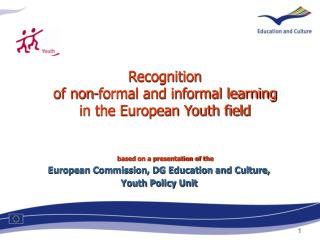 1. Recognition of non-formal learning