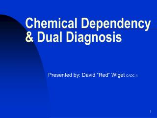 Chemical Dependency & Dual Diagnosis
