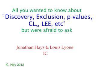 Jonathan Hays & Louis Lyons  IC