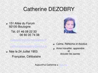 Catherine DEZOBRY