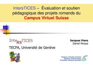 IntersTICES     valuation et soutien p dagogique des projets romands du  Campus Virtuel Suisse