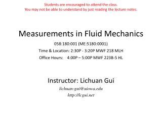 Instructor: Lichuan Gui lichuan-gui@uiowa lcgui