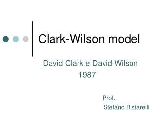 Clark-Wilson model