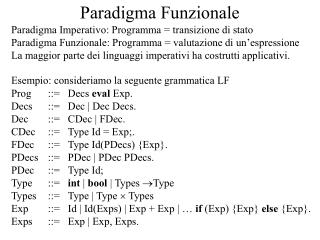 Paradigma Funzionale