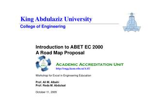 Introduction to ABET EC 2000 A Road Map Proposal