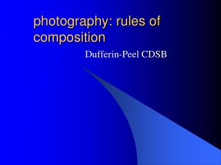 photography: rules of composition