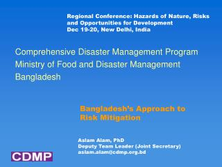 Bangladesh�s Approach to Risk Mitigation