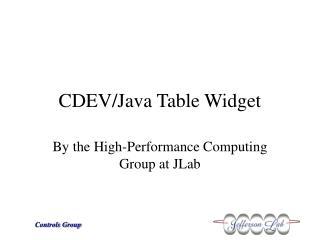 CDEV/Java Table Widget