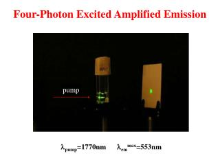 Four-Photon Excited Amplified Emission