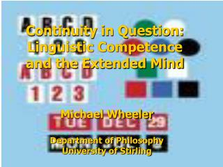 Continuity in Question: Linguistic Competence and the Extended Mind