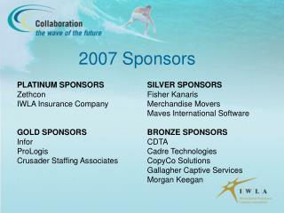 2007 Sponsors