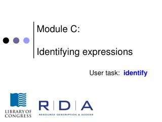 Module C: Identifying expressions