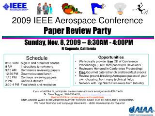 2009 IEEE Aerospace Conference Paper Review Party