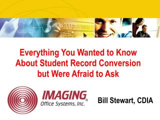 Everything You Wanted to Know About Student Record Conversion but Were Afraid to Ask