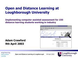Adam Crawford 9th April 2003