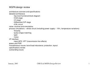 MGPA design review architecture overview and specifications detailed architecture