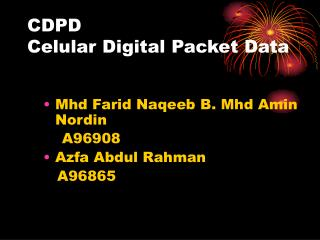 CDPD Celular Digital Packet Data
