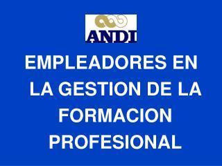 EMPLEADORES EN LA GESTION DE LA FORMACION PROFESIONAL