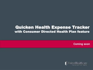 Quicken Health Expense Tracker  with Consumer Directed Health Plan feature