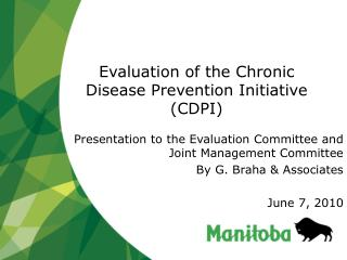 Evaluation of the Chronic Disease Prevention Initiative (CDPI)