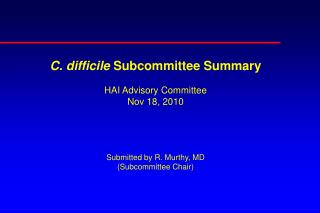 Activities of Subcommittee Sep-Oct