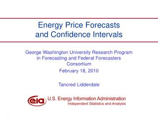 Energy Price Forecasts and Confidence Intervals