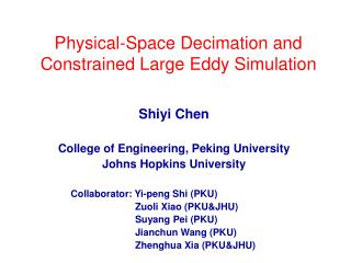 Physical-Space Decimation and Constrained Large Eddy Simulation