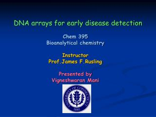DNA arrays for early disease detection