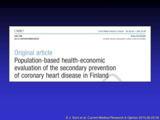 E.J. Soini et al.  Current Medical Research & Opinion 2010;26:25-36