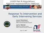 Response To Intervention and Early Intervening Services