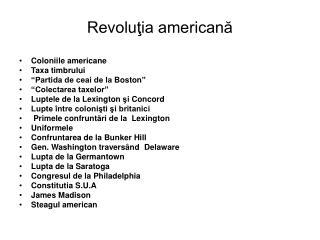 Revoluţia americană