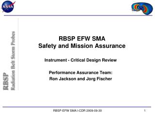 RBSP EFW SMA Safety and Mission Assurance