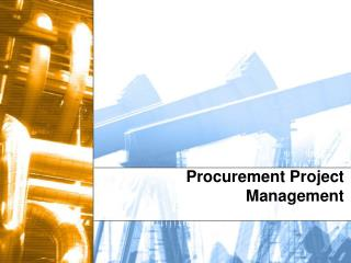 Procurement Project Management