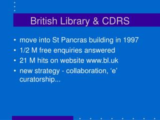 British Library & CDRS